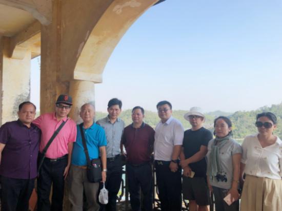 刘洪平副会长在钦州调研特色小镇建设工作