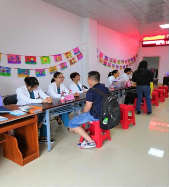 峰程7080组织全职员参加广西国际壮族医院义诊