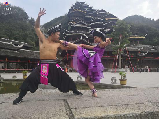中国舞蹈家夏冰双人舞