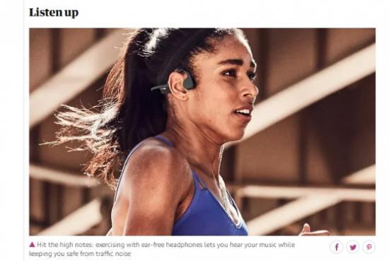 英国《卫报》:为何说AfterShokz韶音骨传导耳机适合那些运动girl
