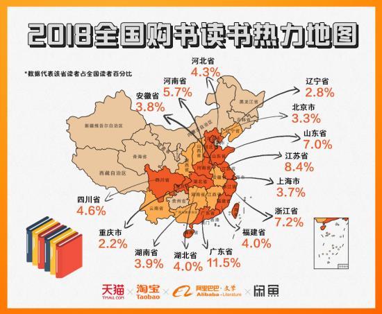 阿里发布2018 中国人读书报告 武汉读书人口总数居全国第九