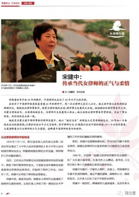"""宋建中:传承当代女律师的正气与柔情"""""""